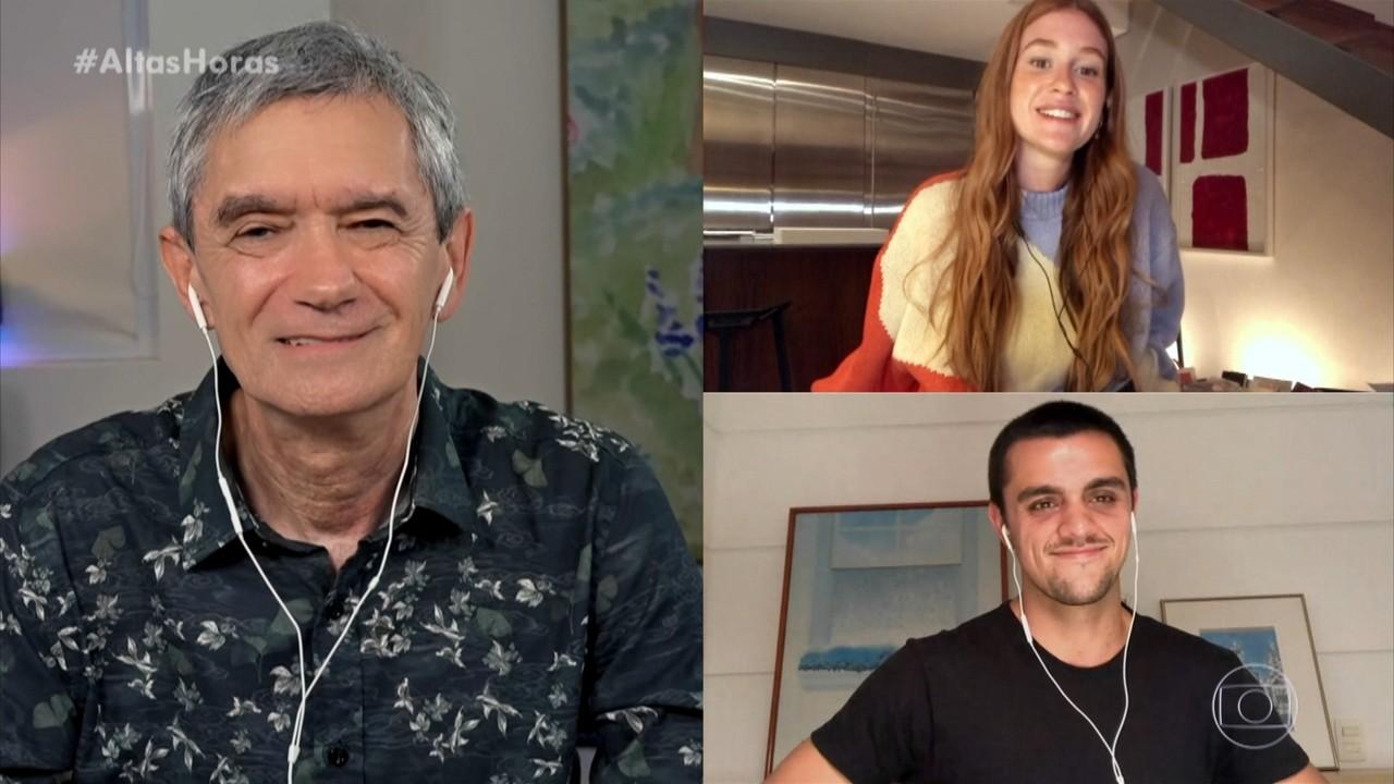 Marina Ruy Barbosa e Felipe Simas lembram de momentos marcantes em 'Totalmente Demais'