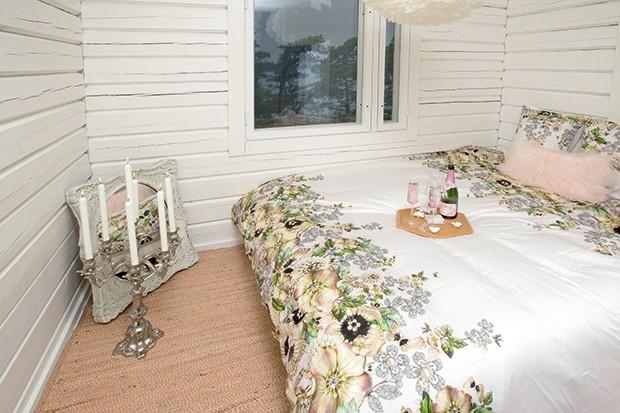 Um dos quartos (Foto: Micaela Werneck)