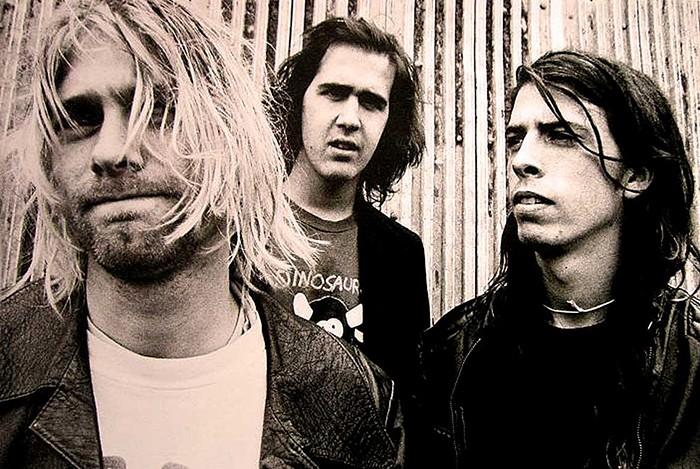 Kurt Cobain e Dave Grohl na época do Nirvana (Foto: Reprodução)