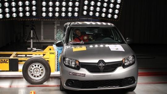 Renault Sandero e Logan recebem 1 estrela em teste de colisão