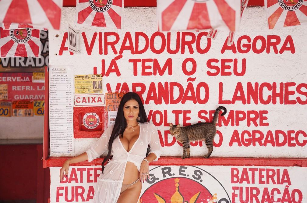 Em 2020, Raissa Machado comemora 7 anos como rainha de bateria da Viradouro — Foto: Marcos Serra Lima/G1