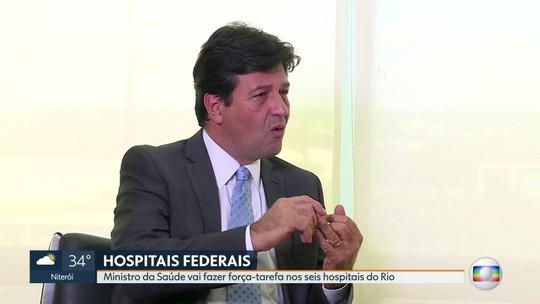 Ministro da Saúde vai fazer força-tarefa nos seis hospitais federais do Rio