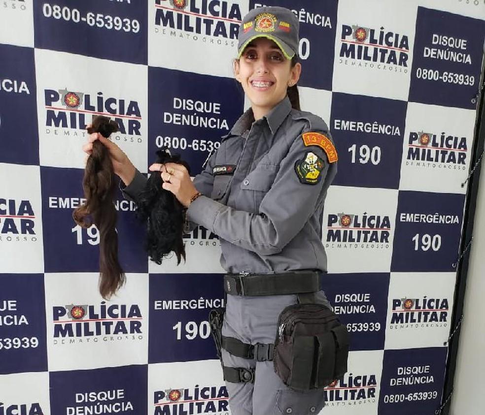 Renata Cristina do 13º Batalhão de Polícia Militar de Lucas do Rio Verde — Foto: Polícia Militar/Divulgação