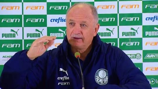 """Felipão pede calma sobre título brasileiro e diz que Palmeiras joga """"reto"""" como o Liverpool"""
