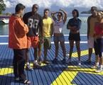 Zeca Camargo e os participantes da primeira edição do reality | Renato Rocha Miranda/TV Globo