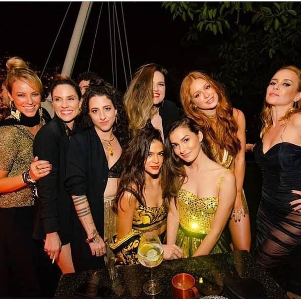 Atrizes na festa de Marina Ruy Barbosa (Foto: Instagram/Reprodução)