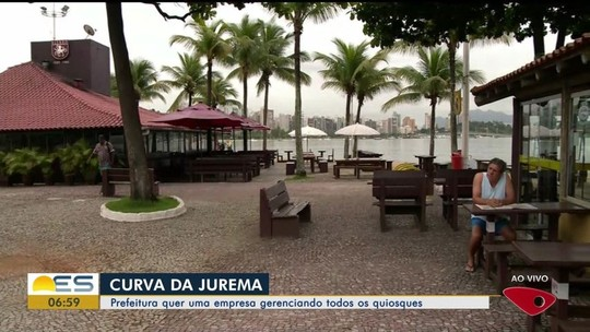 Prefeitura de Vitória quer empresa gerenciando quiosques da Curva da Jurema