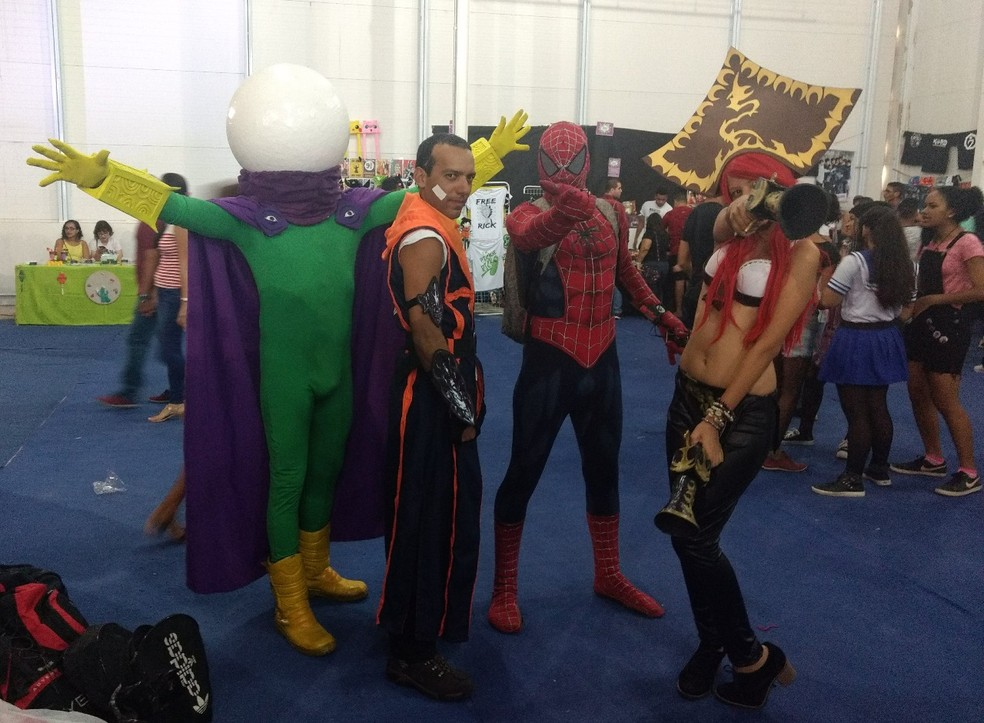 Amantes da cultura pop se reuniram fantasiados no Sakura Anime Fest, em Paulista (Foto: Pedro Alves/G1)