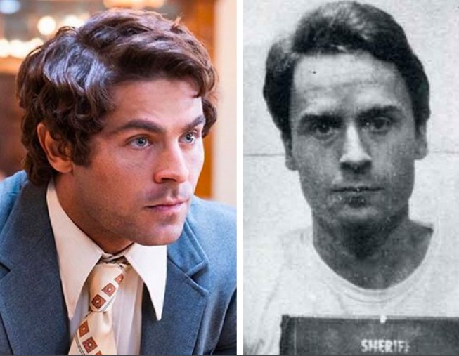 O ator Zac Efron e o assassino serial Ted Bundy (Foto: Instagram/Divulgação)