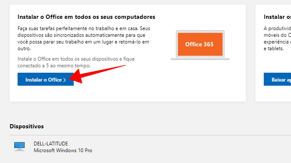 Instale o Office no computador — Foto: Reprodução/Paulo Alves