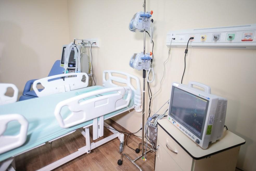 Leito de UTI destinado para paciente de Covid-19 em Belém. — Foto: Reprodução / Agência Pará