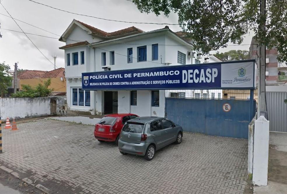 Decasp fica no bairro da Boa Vista, no Centro do Recife — Foto: Reprodução/Google Street View