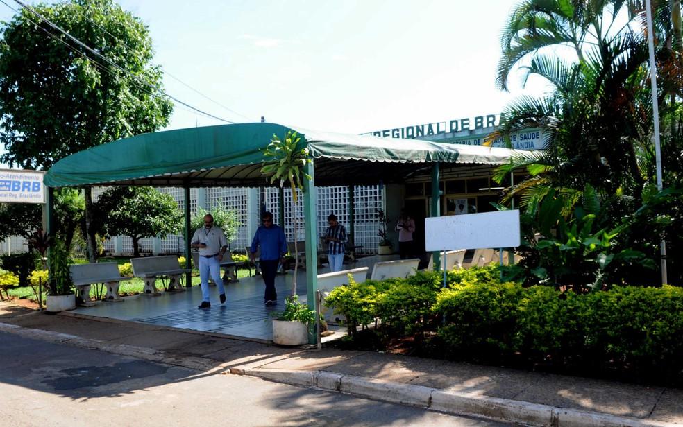 Fachada do Hospital Regional de Brazlândia, no Distrito Federal, para onde vítima foi encaminhada (Foto: Gabriel Jabur/GDF)