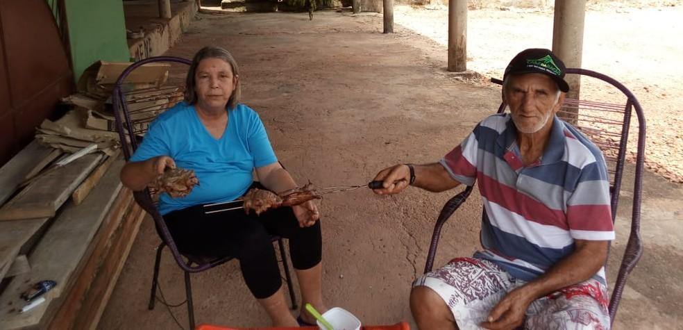 Ivani Ribeiro e Acácio Gonçalves foram encontrados mortos em propriedade de Paraíso do Tocantins — Foto: Arquivo Pessoal