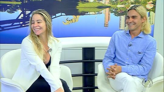 Danielle Winits e André Gonçalves falam sobre comédia romântica no MSTV