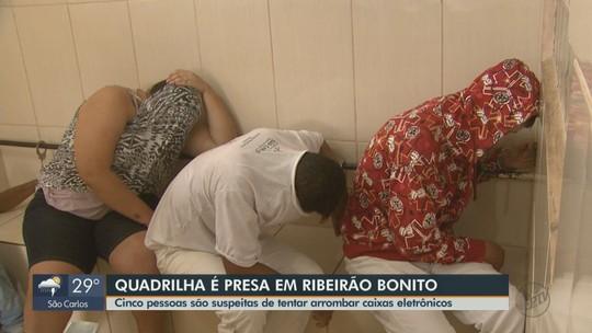 Suspeito é baleado e 4 são detidos pela PM em tentativa de roubo a banco em Ribeirão Bonito