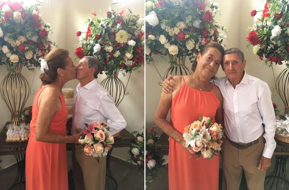 Wilma e Pedro se conheceram em lar de idosos em Cerquilho — Foto: Lar São José/Divulgação