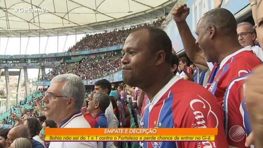 Bahia empata contra o Fortaleza e perde a chance de entrar no G-6 do Brasileirão