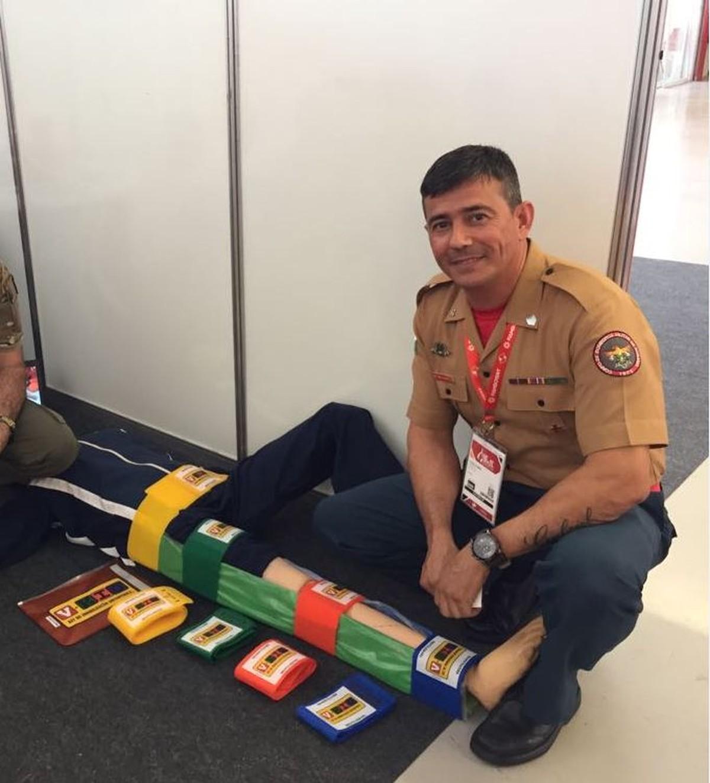 Bombeiro de RR cria kit de imobilização para substituir atadura e reduzir tempo de socorro a pacientes com fraturas