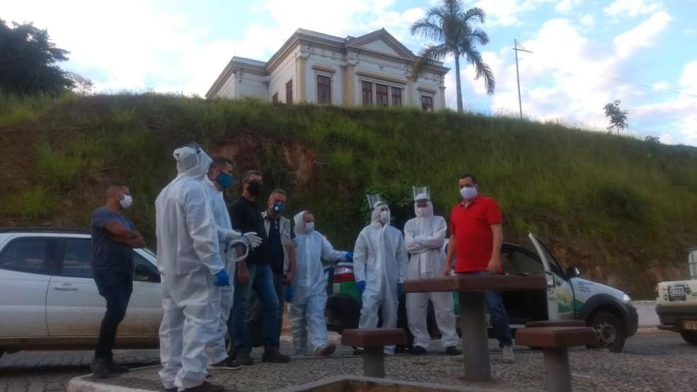 Prefeitura de Trajano de Moraes reforçou medidas de combate à Covid-19 e desinfecção de ruas — Foto: Divulgação/Prefeitura de Trajano de Moraes
