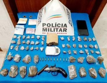 PM apreende drogas, armas e munição durante operação em Juiz de Fora