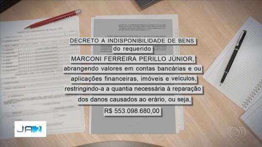 Juíza manda bloquear R$ 550 milhões de Marconi por suspeita de improbidade na Saúde