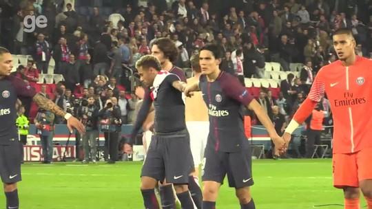 Ganha o PSG: Neymar e Cavani quebram gelo e se resolvem dentro de campo