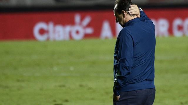 Rogério Ceni, técnico do Flamengo, na partida contra o São Paulo