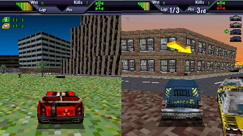 Carmageddon 3D levou a série para antigos telefones celulares porém com limitações pesadas da época (Foto: Divulgação/Carmageddon)
