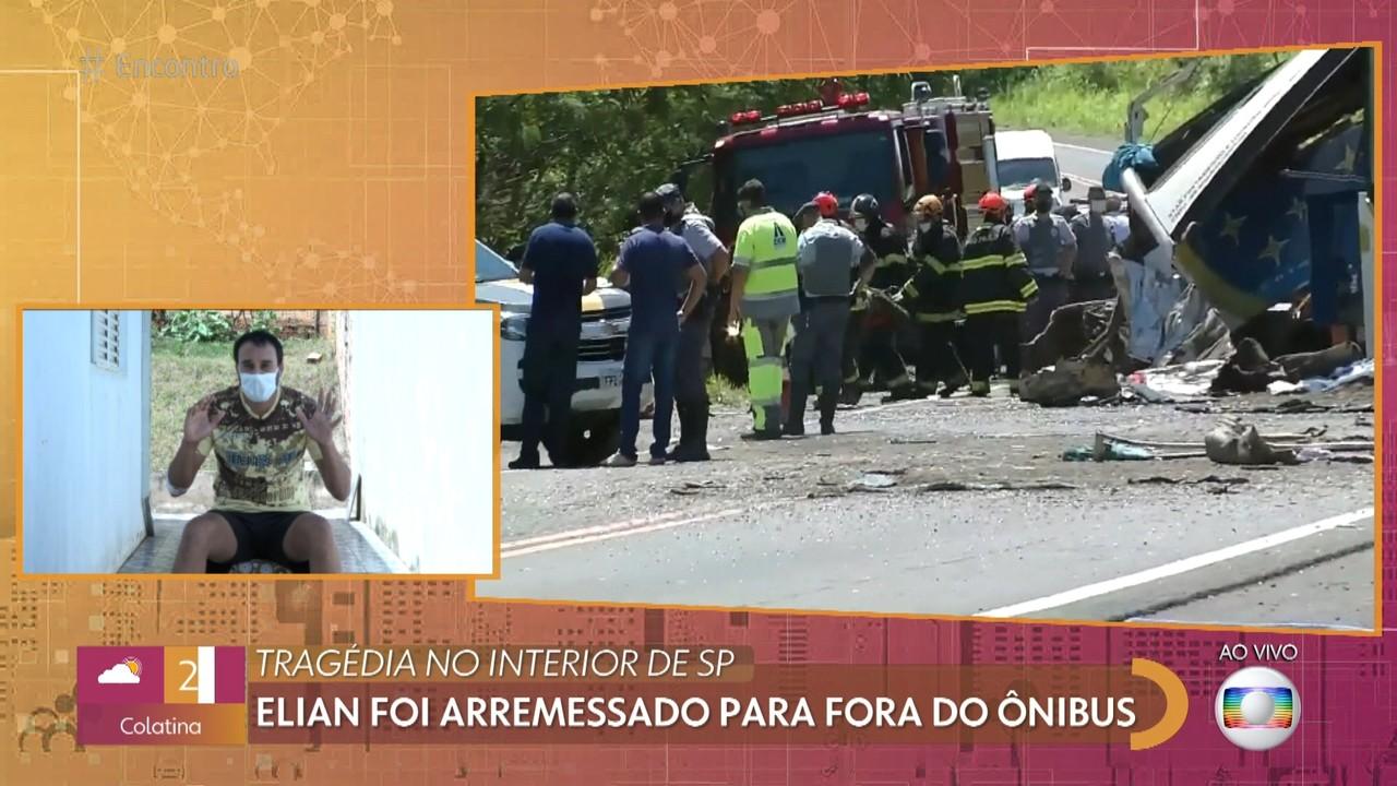 Elian é um dos sobreviventes do acidente com 41 mortos