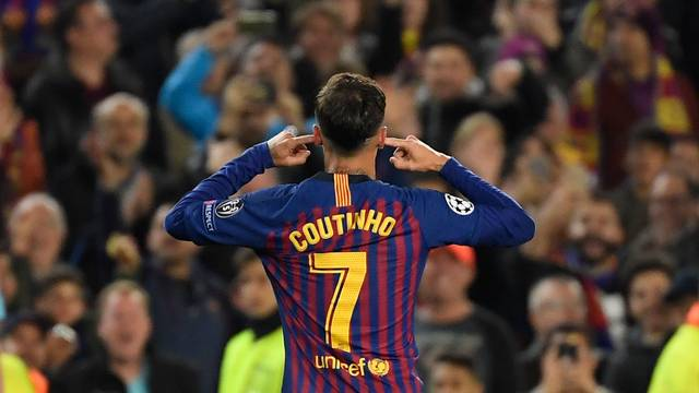 Philippe Coutinho gol Barcelona Manchester United