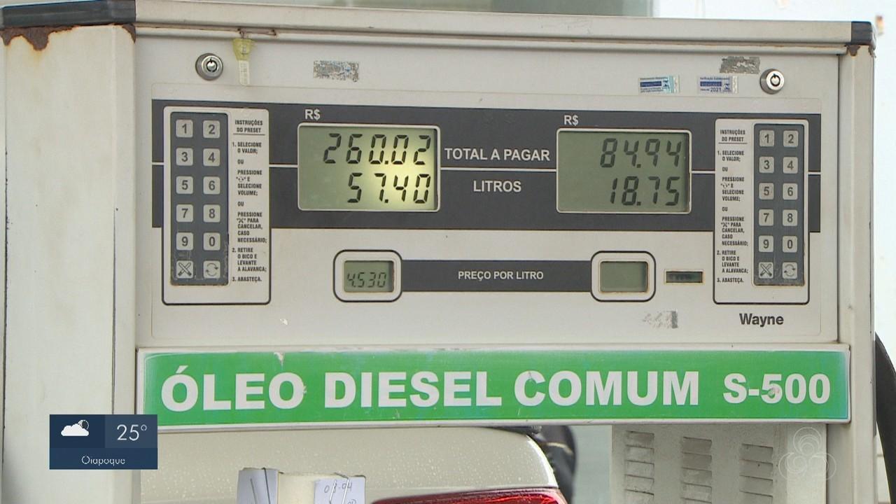 Amapá estimula queda do preço do diesel com redução do ICMS