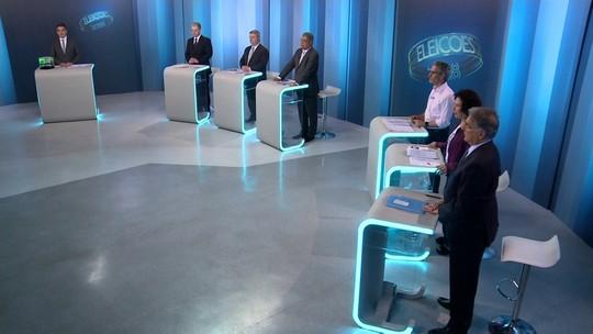 Candidatos ao governo de Minas Gerais participam de debate na Globo