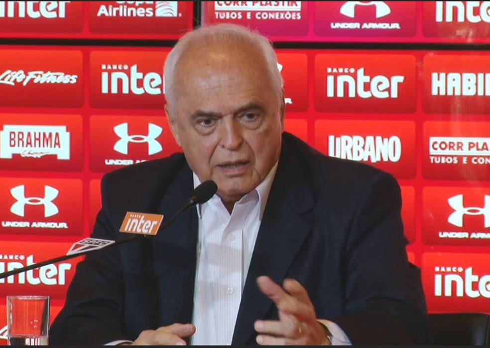 Presidente Leco espera zerar a dívida bancária do clube na próxima temporada (Foto: reprodução)