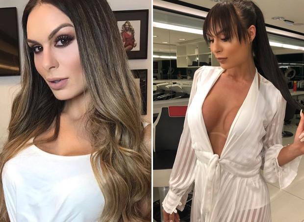 Antes e depois de Fernanda Lacerda (Foto: Reprodução/Instagram)