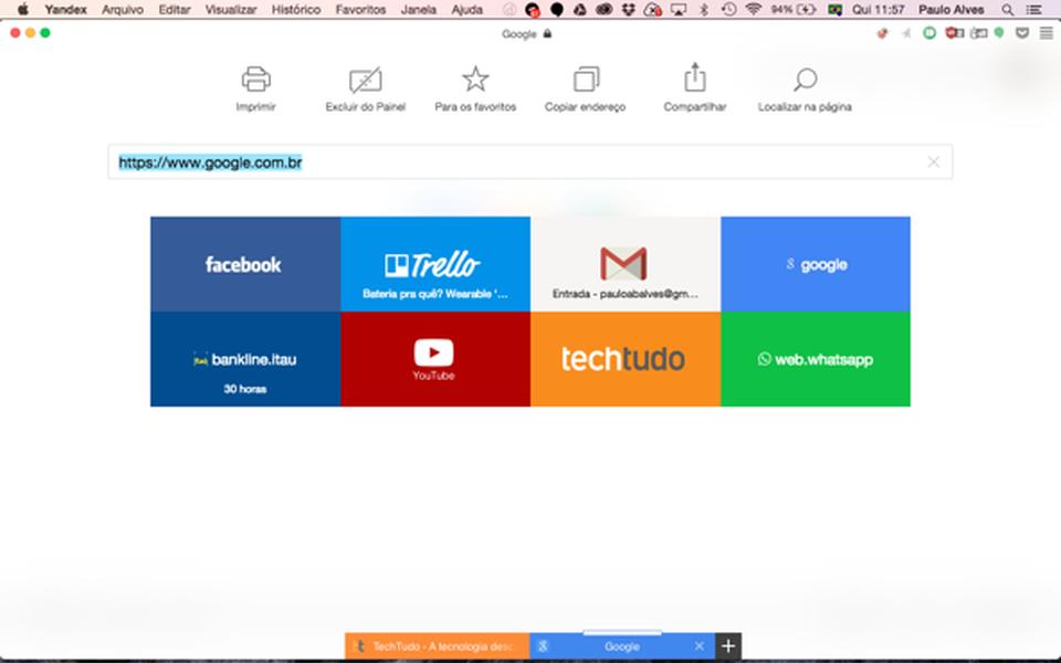 Yandex Browser | Download | TechTudo