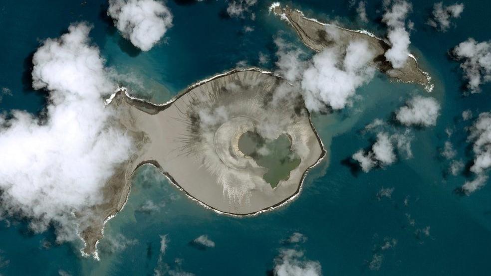 Tonga, no Pacífico — Foto: CNES