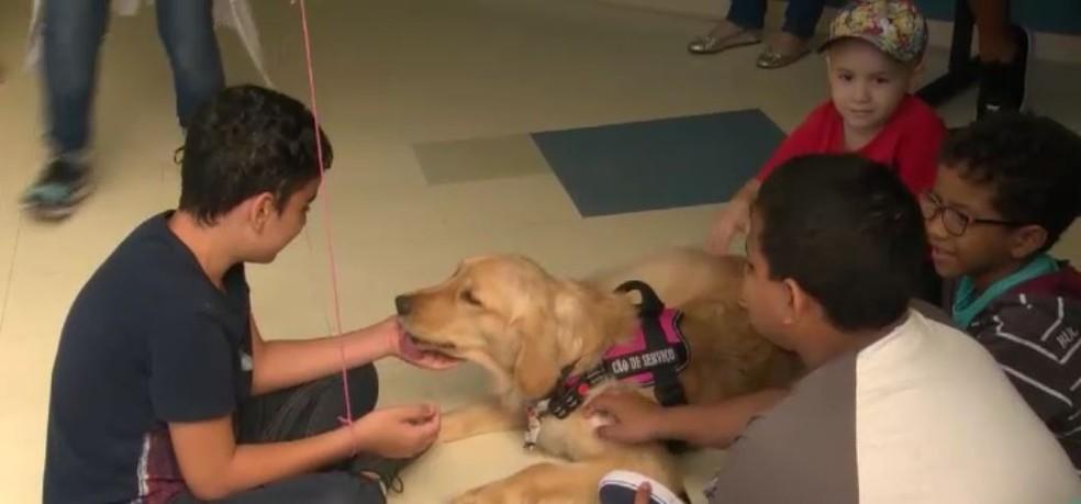 Hope junto com pacientes do INCA — Foto: Reprodução/ TV Globo