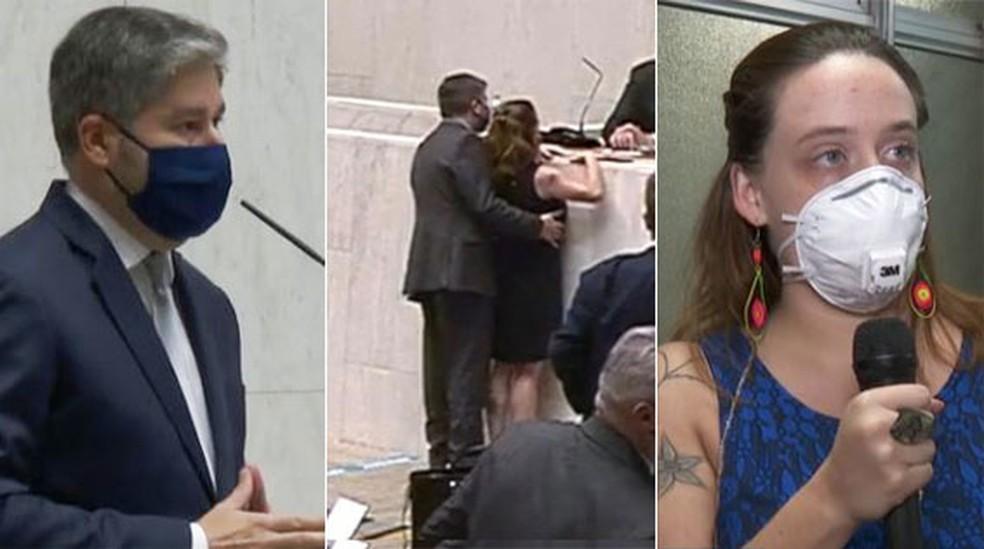 Deputado denuncia colega por assédio na Alesp - Fernando Cury e Isa Pena — Foto: Reprodução