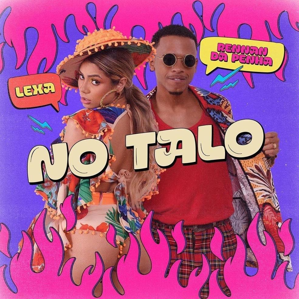 Capa do single 'No talo', de Lexa com Rennan da Penha — Foto: Divulgação