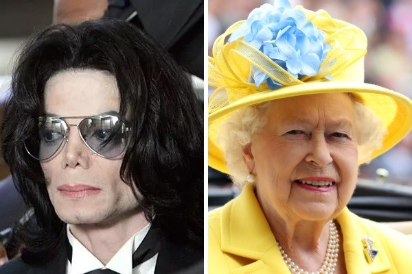 Michael Jackson e a Rainha Elizabeth (Foto: Getty Images)
