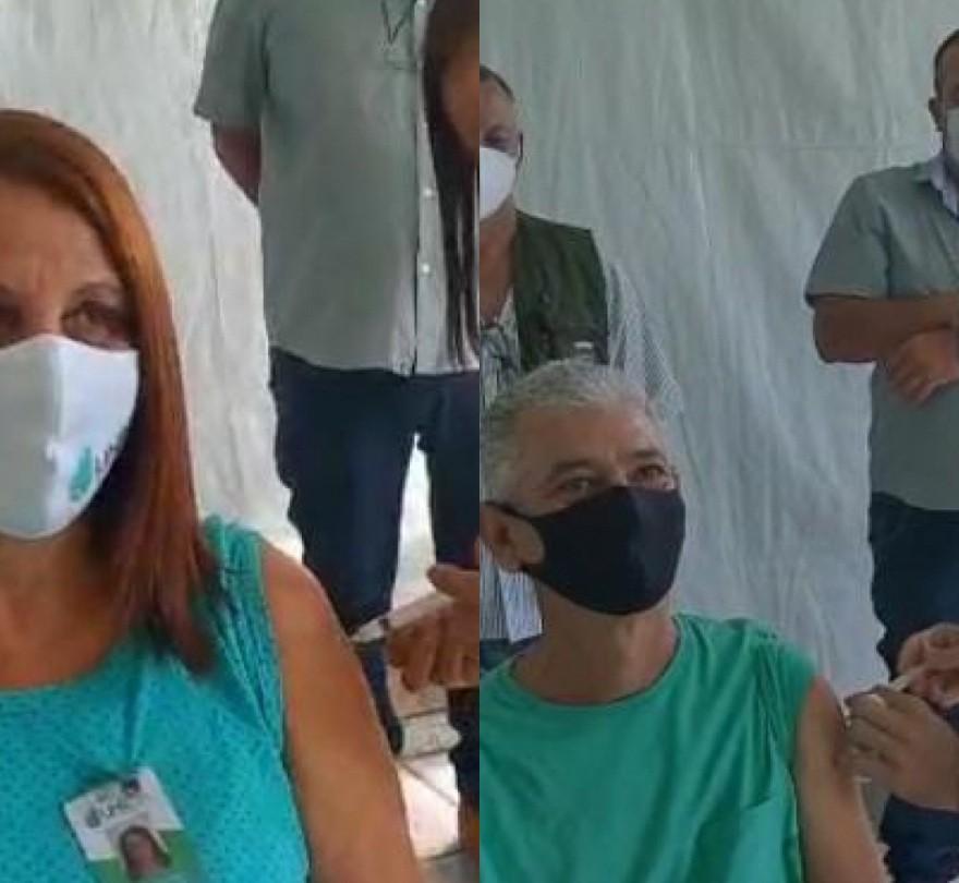 Enfermeira e auxiliar de serviços gerais são os primeiros vacinados em Valença