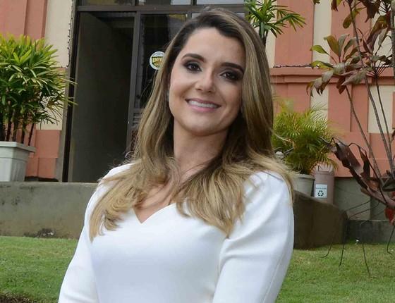 A primeira-dama Carolina de Oliveira Pimentel também foi envolvida nas delações de supostas propinas (Foto: CARLOS ALBERTO/IMPRENSA MG)