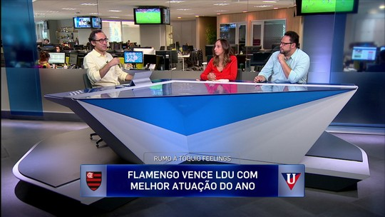 """Jornalistas veem melhor atuação do Flamengo em 2019, mas alertam: """"E quando apertar?"""""""
