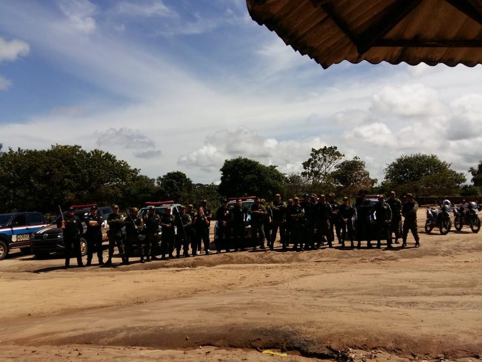 Operação 'Strike' cumpriu mandados de prisão e de busca e apreensão em Monte Alegre (Foto: Policia Militar/Divulgação)