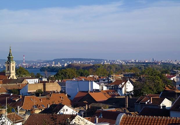 Vista de Belgrado, capital da Sérvia (Foto: Wikimedia Commons/Philozei)