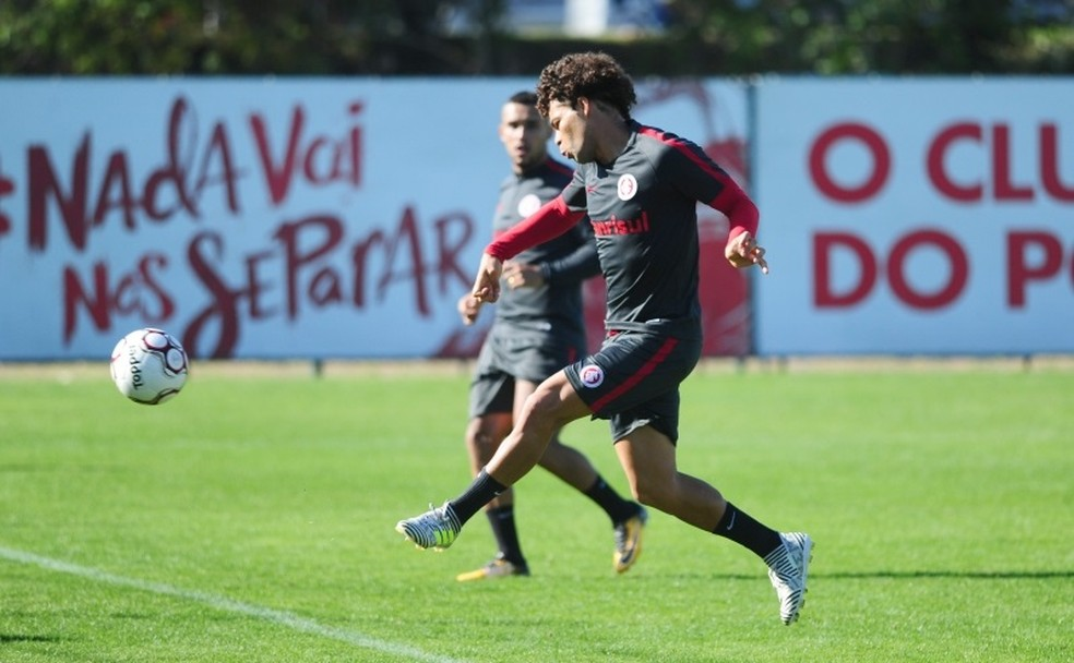 Camilo foi mais uma vez destaque no treino do Inter deste sábado (Foto: Ricardo Duarte/Internacional/Divulgação)