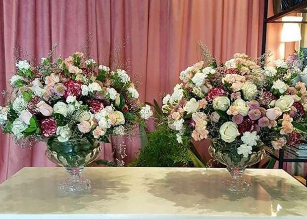 Fotos dos arranjos de flores da festa de Rafaella Santos (Foto: Reprodução/Instagram)