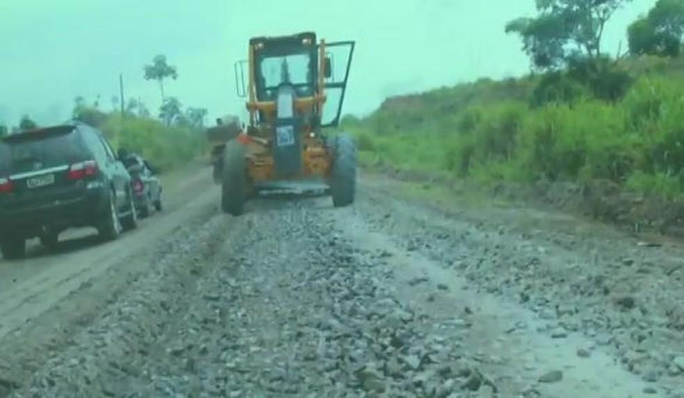 Presidente da Fieac disse que em novembro equipe pretende fazer outra visita na via (Foto: Reprodução/Rede Amazônica Acre)