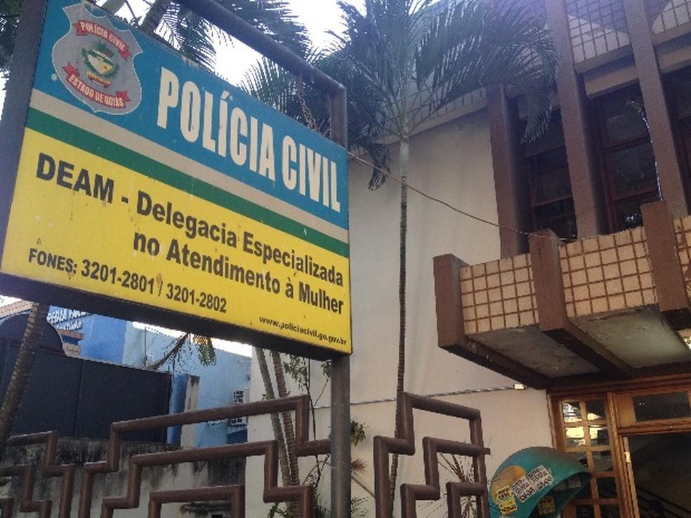 Delegacia Estadual de Atendimento à Mulher (Deam), em Goiânia (Foto: Vanessa Martins/G1)
